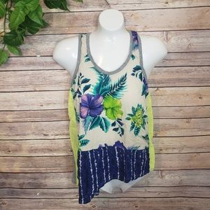 Zara W&B Collection Tropical Floral Top Size Small